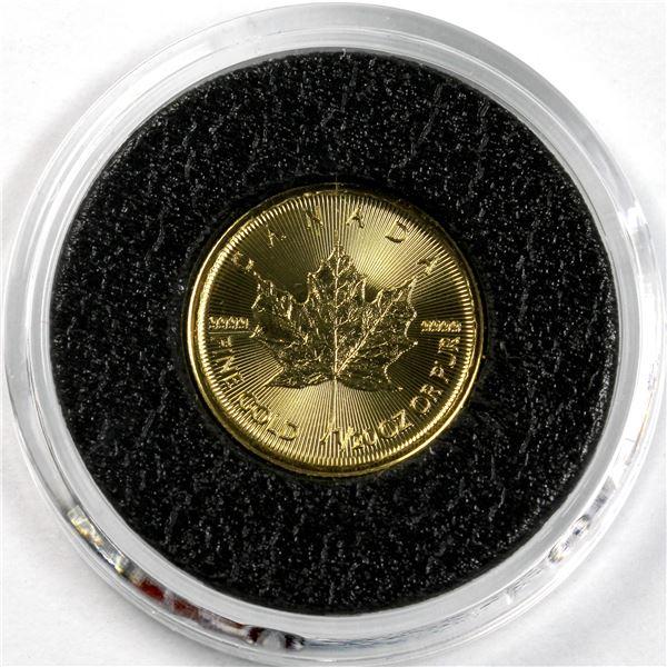 2015 Canada 1/20oz .9999 Fine Gold Maple. (TAX Exempt)
