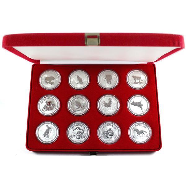 Complete set 1999-2010 Australia Zodiac series 1oz .999 Fine silver ( Tax Exempt). You will receive