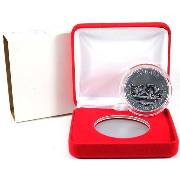 2013  $8 1.50 oz. Polar Bear Commemorative Fine Silver coin. C come encapsulated with Red Display bo