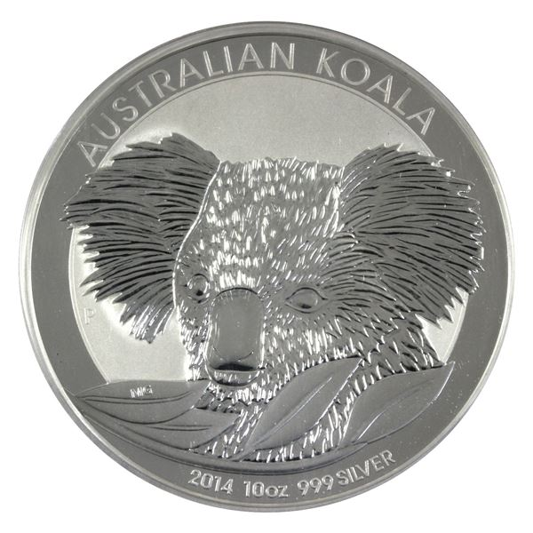 2014 10oz Fine Silver Australian $10 Koala (scratched capsule) (Tax exempt)