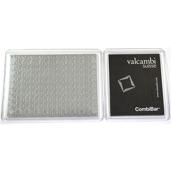 """original Sealed Sheet of 100x 1 gram Silver wafers .999 """"CombiBar"""" by Valcambi Suisse. 3.215oz  (Tax"""