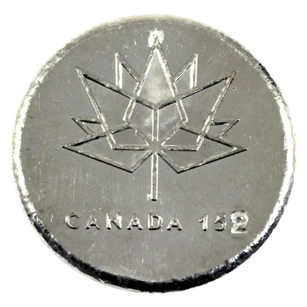 """2019 5oz Silver Limited Edition Round by Beaver Bullion """"Canada 152' #035/152.  (Tax exempt)"""