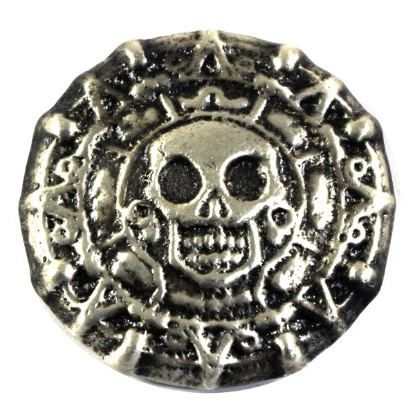 3oz Pirate Skull hand Poured Silver round by Beaver Bullion. (Tax Exempt)