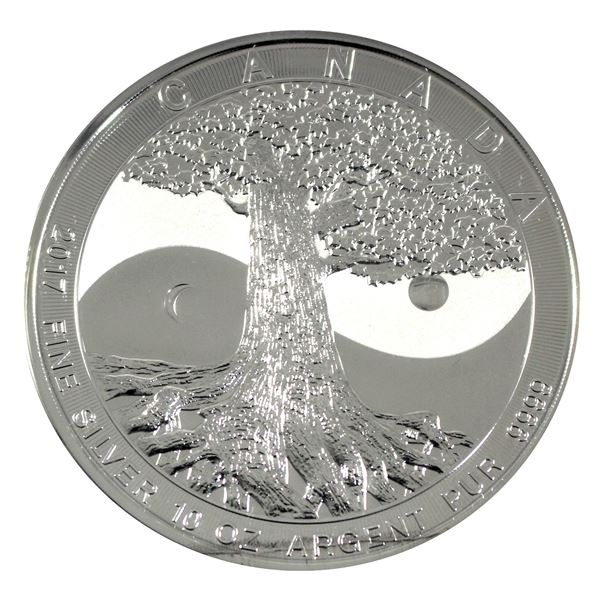 2017 Canada $50 10oz Fine Silver Tree of Life. Comes encapsulated. (Tax Exempt)