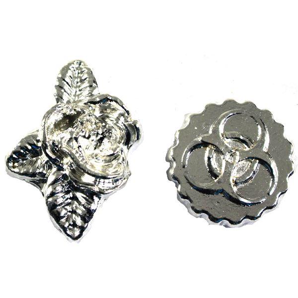 Silver Lot Beaver Bullion, Lot includes 3oz Pheli Mint Rose, and 2oz Radioactive Symbol. 5oz Total 2