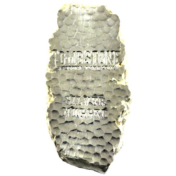5oz Scottsdale Mint Tombstone Silver Nugget 'Arizona Territory'. Comes with original burlap bag and