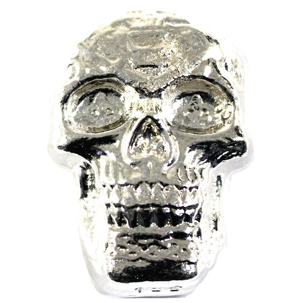 Large 5oz 3-D Hand Poured Skull by Beaver Billion. (Tax Exempt)