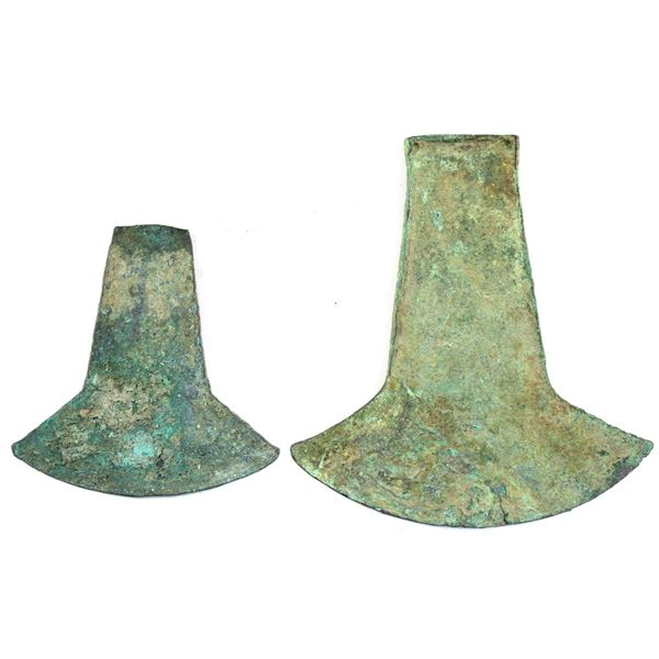 Lot of 2x Ancient AXE Money from Ecuador circa. 800-1250 CE. 1 Appears to be a '1 hoe' denomination,