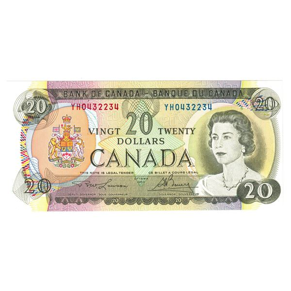 BC-50b  1979 Bank of Canada $20, Lawson-Bouey. S/N: YH0432234 A Nice CUNC Note.