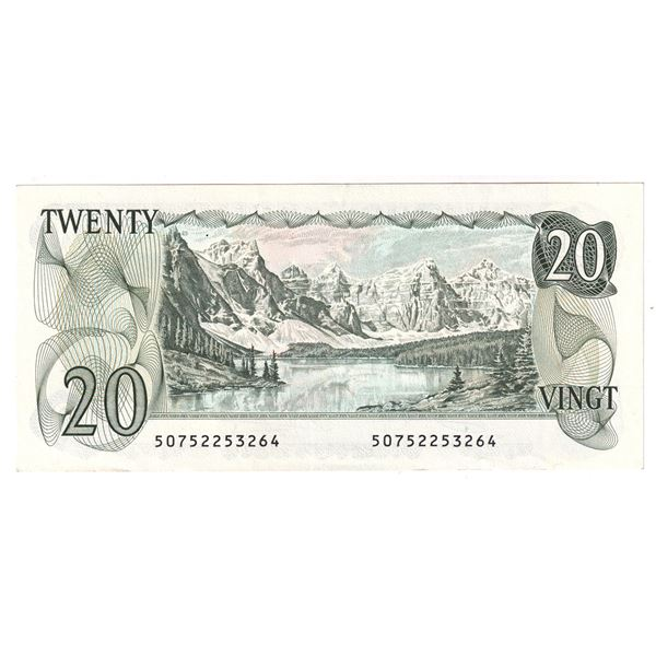 BC-54b-i 1979 Bank of Canada $20,  Crow-Bouey. S/N: 50752253264 A Clean AU-UNC Note.