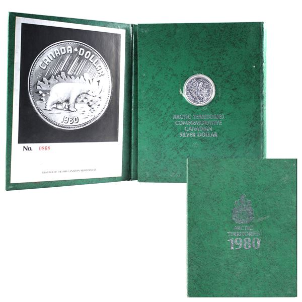 *SIGNED PIECE* 1980 Transfer of the Arctic Islands to Canada specimen silver dollar in commemorative