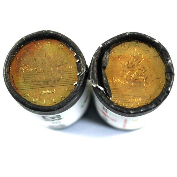2004 Regular & 2004 Olympic Loon Dollar Original Rolls. 2pcs