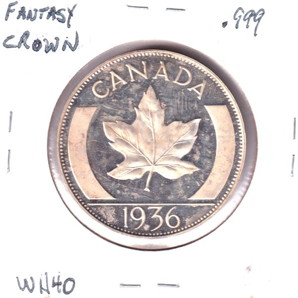 1936 Edward VIII Fantasy Crown .999 Fine Silver (Tax Exempt)