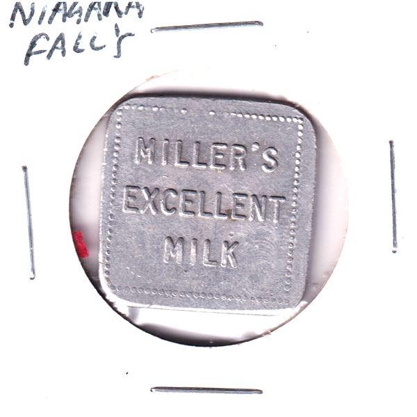 Niagara Fall Millers Excellent mil 1 quart token.