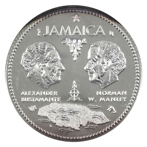 1972 Jamaica Sterling Silver proof $10 commemorating 10th Anniversary of Independence.