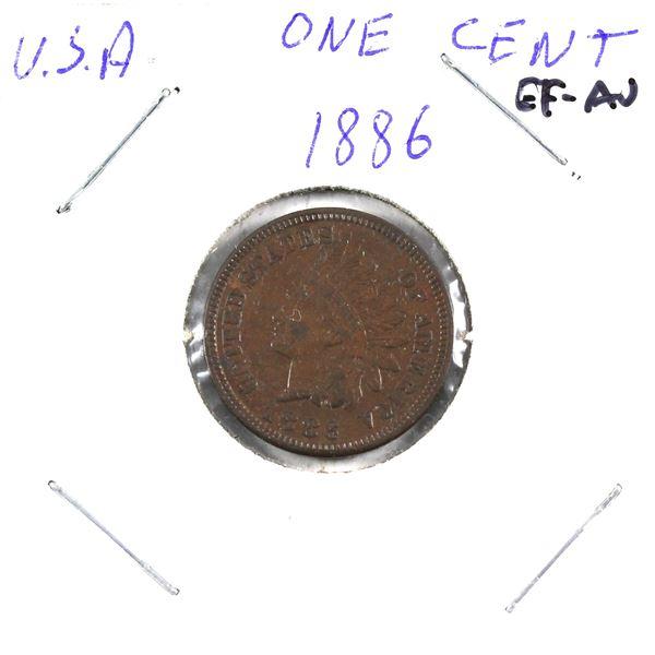 1886 USA 1-cent Variety 1, EF-AU.