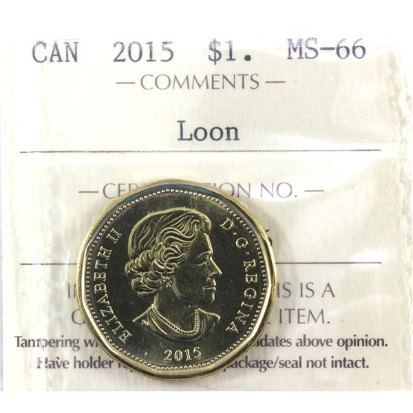 2015 Loon Dollar ICCS Certified MS-66