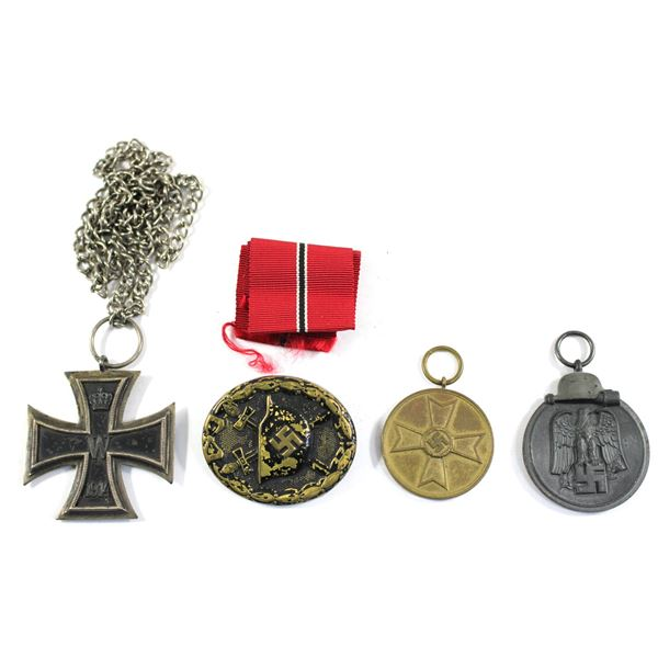 Lot of 4x Germany Medals. Includes 1941/42 Eastern Front Medal, 1939 War Medal for War Earnings, 181