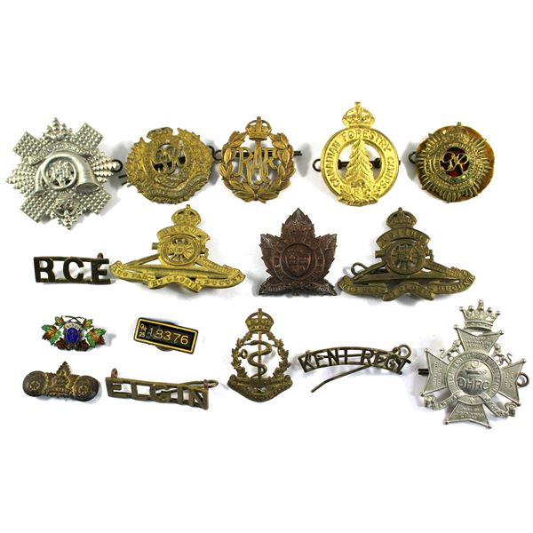 Lot of 16x Assorted Canadian Armed Forces Badges and Pins. See description for more information. Bad