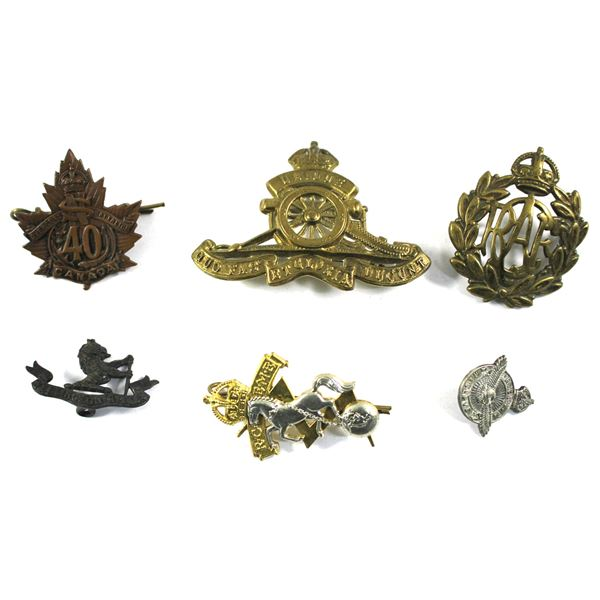 Lot of 6x Assorted Canadian Armed Forces Badges and Pins. See description for more information. Badg