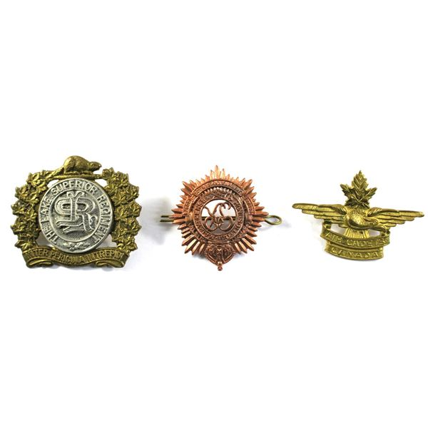 Lot of 3x Canadian Armed Forces Badges. Includes Air Cadets of Canada, The Lake Superior Regiment, a