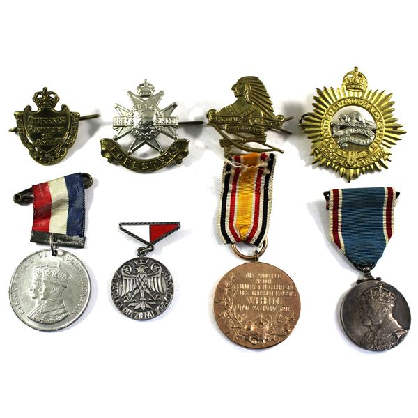 Lot of 8x Assorted World Badges and Medallions. See description for more information. Ribbons show s