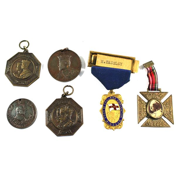 Lot of 6x Assorted British Commemorative Medals. Includes 1837-1897 Queen Victoria the Good 60th Yea
