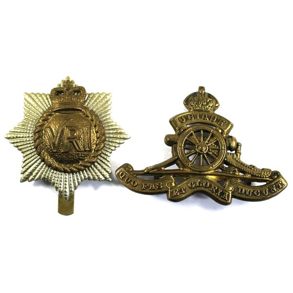 Lot of 2x Canadian Armed Forces Cap Badges. Includes The Royal Canadian Regiment VRI Badge, and the