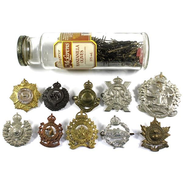 Lot of 11x Assorted Military Badges and Badge Pins. Please see description for more information. Ite