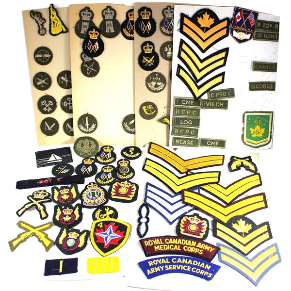 Lot of 102x International and Canadian Patches and Shoulder Flashes. See description for more inform