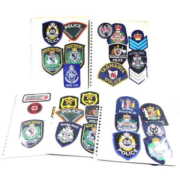 Lot of 45x Australia and New Zealand Police Patches and Others. Includes patches from South Australi