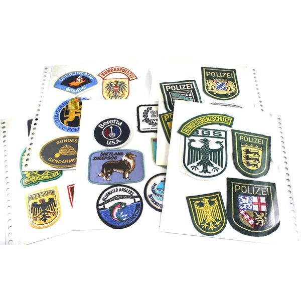 Lot of 37x  Assorted Germany Police and World Tourism Patches. Includes patches from Lucan, Germany,