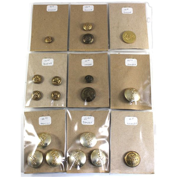 Lot of 18x Canadian Forces Buttons. Navy and Electrical and Mechanical Engineers.