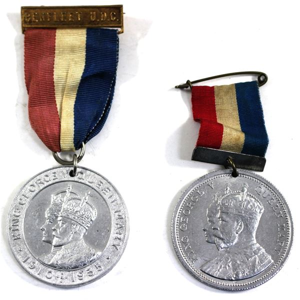 Lot of 2x Great Britain Commemorative Medals for King George V and Queen Mary. Including 1911 Corona