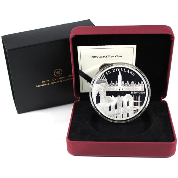 2009 Canada $50 150th Anniversary Construction of Parliament 5oz Silver (No Tax)