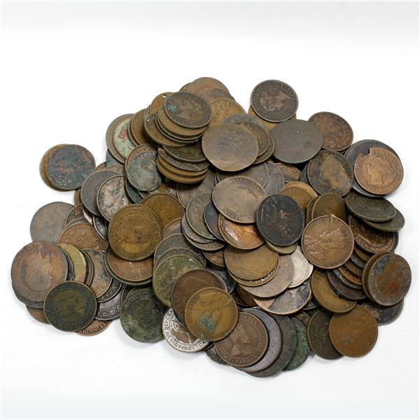 Assorted Canada Large Cents, Mixed Dates (Culled, Various Imperfections) Sold as is, no returns.