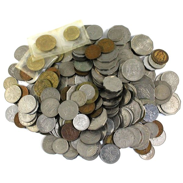 Lot of Mixed Jamaica Coinage. Total of 2.6 pounds!