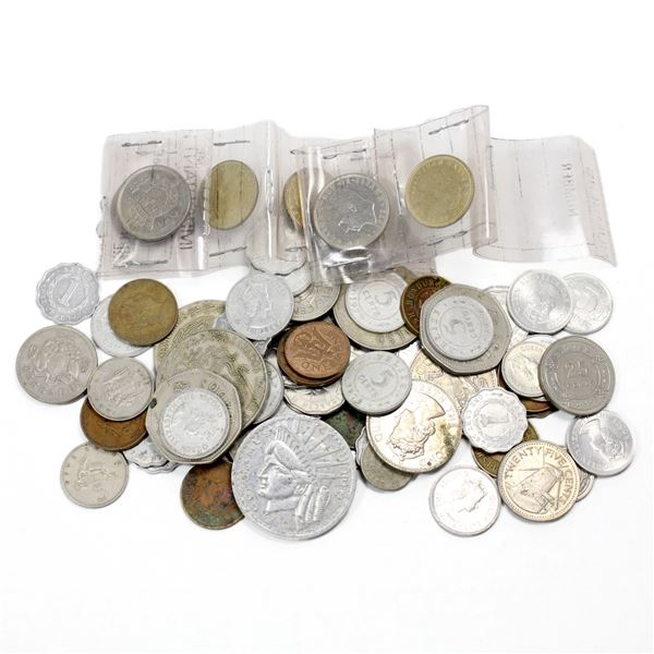 Lot of Mixed World Coinage. Approximately 1/2 pound! Coins are a variety of sizes, colours, and shap