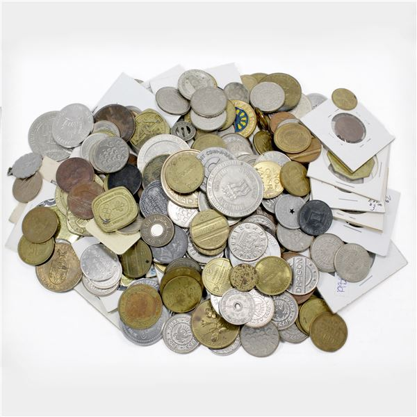 Grab Bag of Mixed Tokens, Trade Dollars, Medallions, and More! Total of 2.65 pounds!