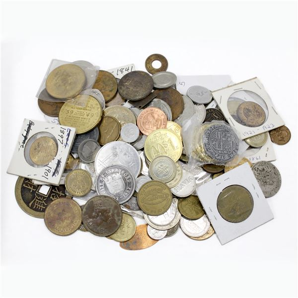 Lot of Mixed Tokens, Trade Dollars, and More. A total of 1.8 pounds of tokens to sort through! Vario