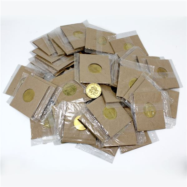 Lot of 54x 2002 Coca-Cola Canada Olympic Team Coins. Sealed in plastic with their cardboard frames!