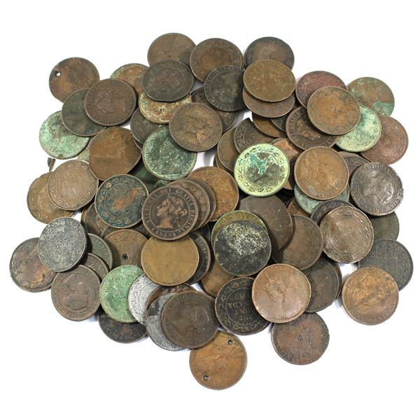 Lot of Mixed Date Canada Large Cents - Culls. Total of 1.25 pounds! Approximately 100 coins. Various