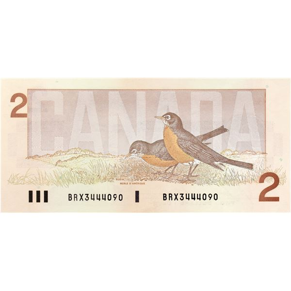 Circulation Issue BRX BC-55cA 1986 $2 Note Canada UNC+