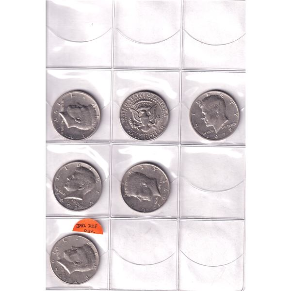 1971-1999 Kennedy half dollars in  uni-safe holder. You will receive 34 coins dated between 1971 -19