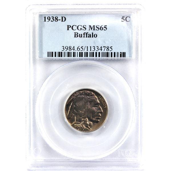 1938-D USA Buffalo Nickel PCGS Certified MS-65