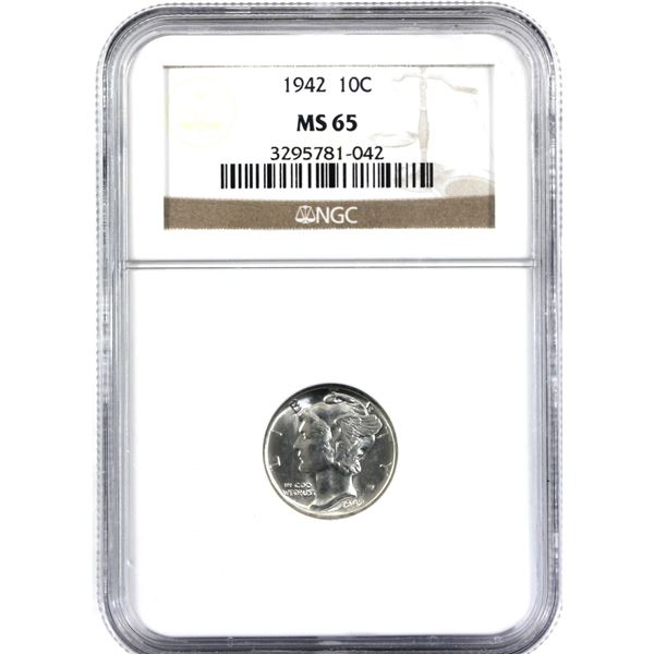 1942 USA 10-cent NGC Certified MS-65