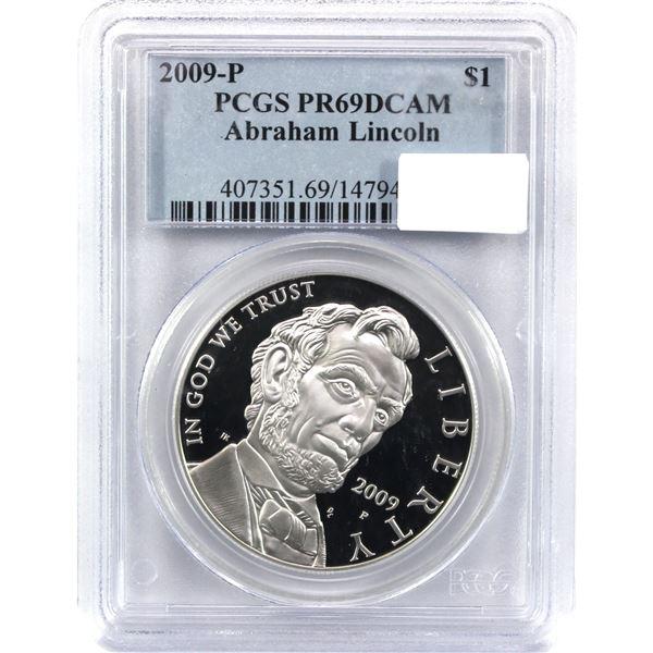 2009-P USA Abraham Lincoln Dollar PCGS Certified PR-69 Deep Cameo