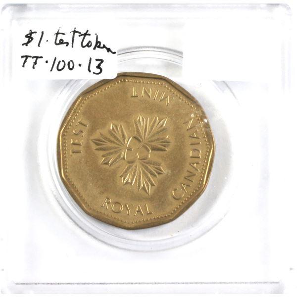 1983 Royal Canadian Mint Maple leaf test token