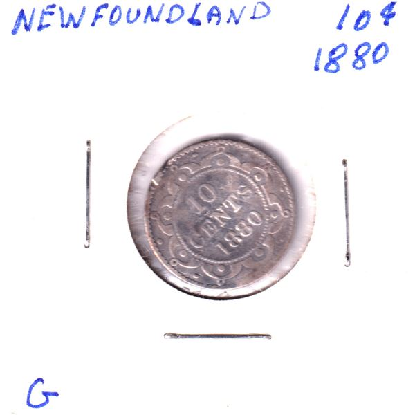 1880 Newfoundland 10-cent