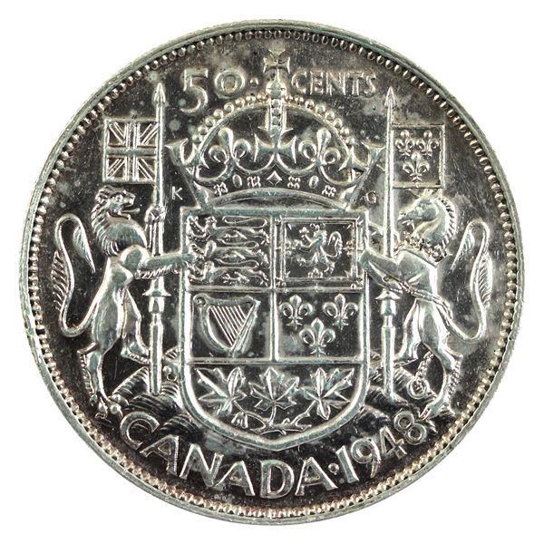 1948 Canada Silver 50-cent VF *Key Date*